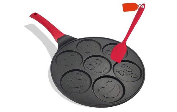 Emoji Smiley Face Nonstick Grill Pancake Pan