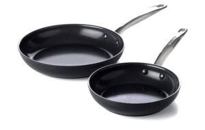 Prime Midnight Ceramic Frying Pan Set