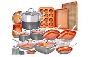 Copper Pots and Pans Nonstick Cookware Set